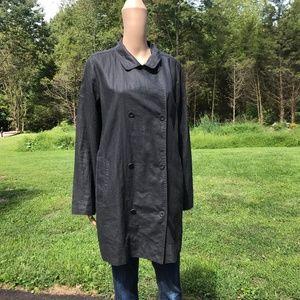 Eileen Fisher Coated Linen Trench Coat